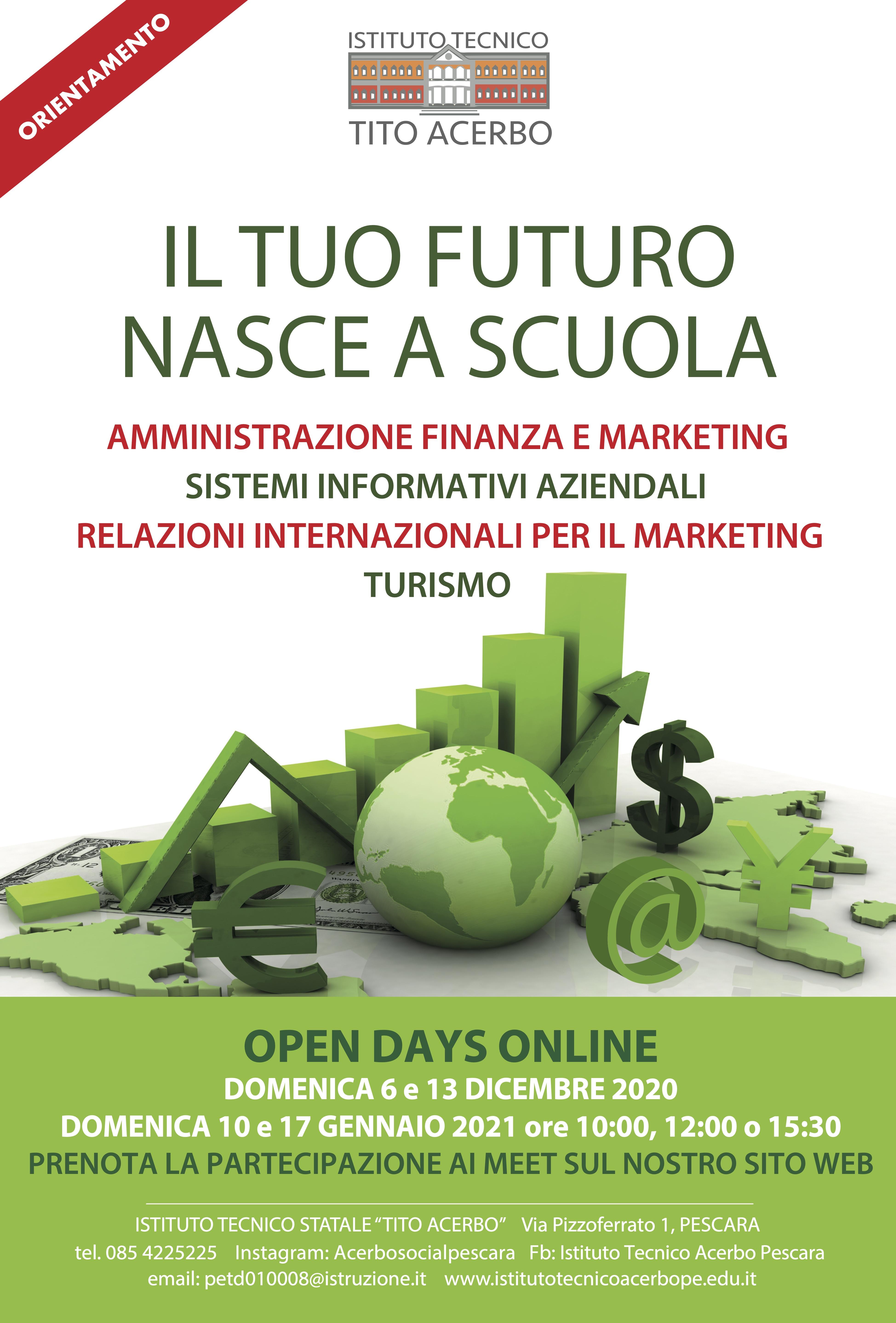 banner dell'Acerbo raffigurante una mela verde e la scritta mordi il tuo futuro